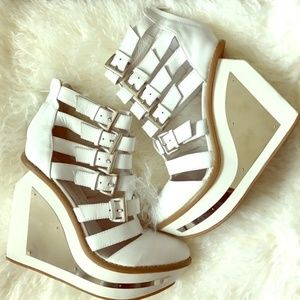 Jeffrey Campbell White Clinic Wedges